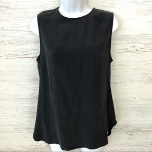 EQUIPMENT 100% Silk Sheath Sleeveless Blouse Black